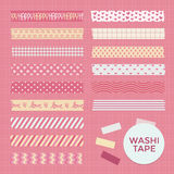Collection of Cute Patterned Washi Tape Strips Stock Images