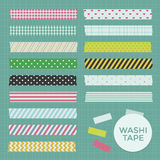 Collection of Cute Patterned Washi Tape Stock Photos