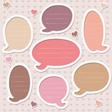 Collection of cute pink speech bubbles Royalty Free Stock Photos