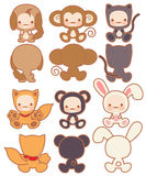 Collection of Cute rabbit. Vector File EPS10 Stock Photo