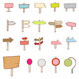 Collection of cute signboard elements Stock Photo