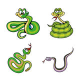 Collection of Cute Snake Cartoon Vector Royalty Free Stock Images