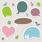 Collection of cute speech bubbles. Set of text frames. Vector design elements Vector Illustration