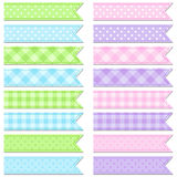 Collection of cute tape stripes Royalty Free Stock Photos