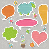 Collection of cute text frames. Set of speech bubbles. Vector design elements Royalty Free Stock Image