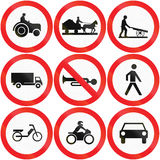 Collection of Cyprian road signs.  Stock Image
