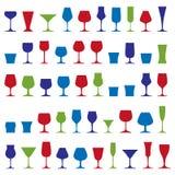 Collection décorative de verres à boire Ensemble de célébration goble Photos stock