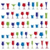 Collection décorative de verres à boire Ensemble de célébration goble Image stock