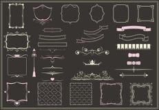 Collection décorative vide d'éléments de vintage illustration de vecteur
