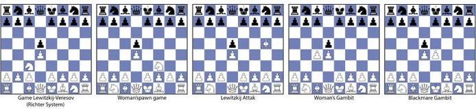 Collection d'échecs de jeu fermé illustration stock