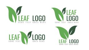 Collection d'écologie Logo Symbols, conception verte organique de vecteur de feuille illustration stock