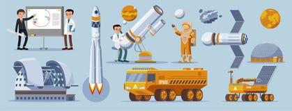 Collection d'éléments d'exploration d'espace illustration libre de droits