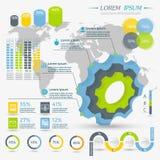 Collection d'éléments d'Infographic Images stock