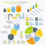 Collection d'éléments d'Infographic Photo stock