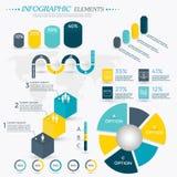 Collection d'éléments d'Infographics illustration libre de droits