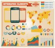 Collection d'éléments d'infographics, vecteur Photographie stock