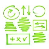 Collection d'éléments de barre de mise en valeur Images libres de droits