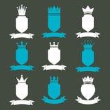 Collection d'éléments de conception d'empire Défectuosité royale héraldique de couronne illustration libre de droits