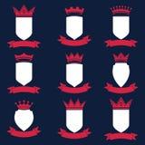 Collection d'éléments de conception d'empire Défectuosité royale héraldique de couronne illustration de vecteur