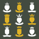 Collection d'éléments de conception d'empire heraldic illustration de vecteur