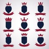 Collection d'éléments de conception d'empire Illustration royale héraldique de couronne, illustration de vecteur