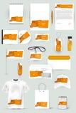 Collection d'éléments de conception pour des affaires, la publicité ou la visualisation d'identité d'entreprise Images libres de droits