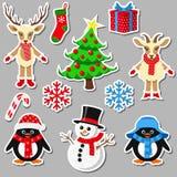 Collection d'éléments de Noël Photographie stock