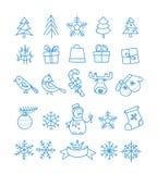 Collection d'éléments de vecteur de saison de Noël illustration stock