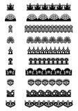 Collection d'éléments lacés sans couture Image libre de droits