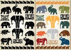 Collection d'éléphant Images libres de droits