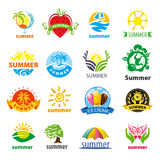 Collection d'été de logos de vecteur Photos libres de droits