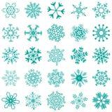 collection d'étoiles de neige Photos stock