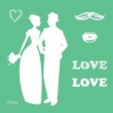 Collection d'accessoires et d'attributs de mariage photo stock
