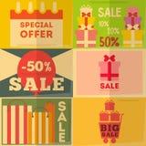 Collection d'affiches de vente Photographie stock