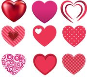 Collection d'amour de coeur de Valentine Image stock