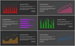 Collection d'Analytics d'illustration de vecteur de pages Photo libre de droits