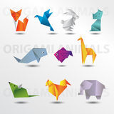 Collection d'animaux d'origami Photos stock