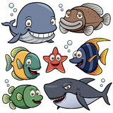 Collection d'animaux de mer Image stock