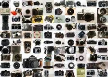 Collection d'appareils-photo de vintage Photos libres de droits