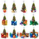 Collection d'arbres de Noël Photographie stock libre de droits