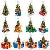 Collection d'arbres de Noël Photo stock