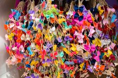 Collection d'arcs et de rubans colorés Images stock