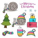 Collection d'articles de Noël illustration stock