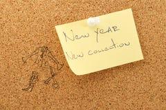 Collection d'autocollant de nouvelle année nouvelle Images libres de droits
