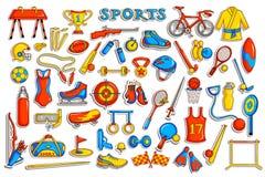 Collection d'autocollant pour l'objet de sports Photos libres de droits