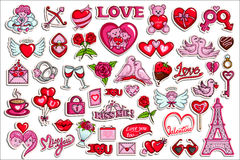 Collection d'autocollant pour l'objet de Valentine Love Photos libres de droits