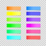 Collection d'autocollants colorés Photo stock
