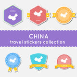 Collection d'autocollants de voyage de la Chine Photos stock