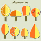 Collection d'Autumn Trees Images stock