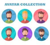 Collection d'avatar d'homme Photo de profil dans le style plat illustration de vecteur